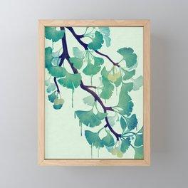 O Ginkgo (in Green) Framed Mini Art Print