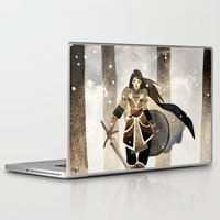 warrior Laptop & iPad Skins featuring Warrior by Pauliina Hannuniemi