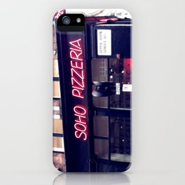 Pizza in SOHO iPhone Case