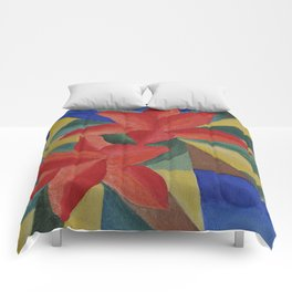 Abstract Tiger Lily Comforters