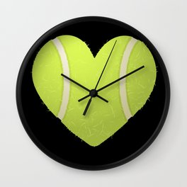 Love Heart Tennis design Valentine's Day Gift Tennis Players Wall Clock