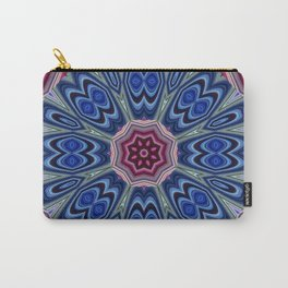 Peacock Tail Kaleidoscope Carry-All Pouch
