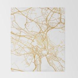 ZÜRICH SWITZERLAND CITY STREET MAP ART Throw Blanket