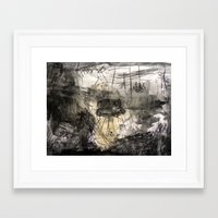 sofa Framed Art Prints featuring Sofa by woman