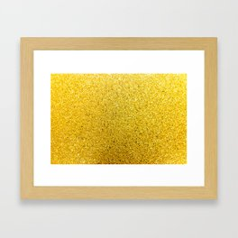 Sunshine Glittery Golden Sparkle Framed Art Print