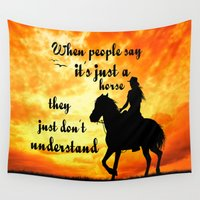 horses Wall Tapestries featuring HORSES by AR PHOTOGRAPHY & GRAPHIC DESIGN