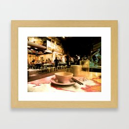Voulez-vous dejeurner avec moi en Hong Kong? Framed Art Print