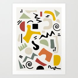 Shapes 2 Art Print