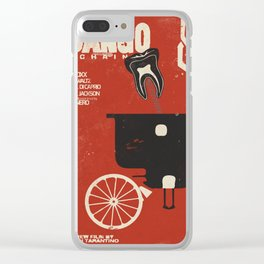 Django Unchained, Quentin Tarantino, alternative movie poster, Leonardo DiCaprio, Jamie Foxx Clear iPhone Case
