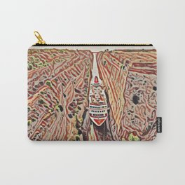 Greece Corinth Canal Artistic Illustration Rocky Terrain Style Carry-All Pouch