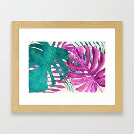 Rainforest Canopy Tropical Leaves II Framed Art Print