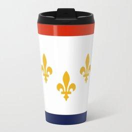 flag of new orleans,NOLA,Crescent City,Big Easy,Nawlins, jazz,Lousiana,french,cajun,treme Travel Mug