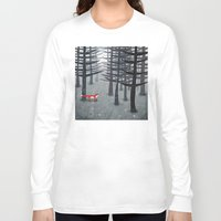 wildlife Long Sleeve T-shirts featuring The Fox and the Forest by Nic Squirrell