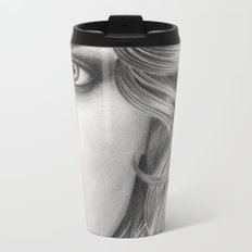 Half Portrait Metal Travel Mug