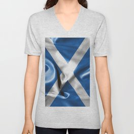 Scottish Flag Unisex V-Neck