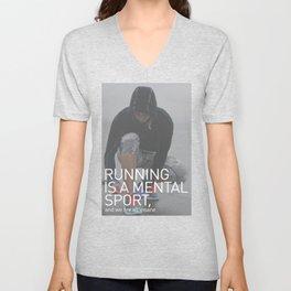 Running Is A Mental Sport Unisex V-Neck
