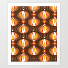 Oohladrop Brown Art Print