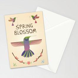 Spring blossom - Hummingbird Stationery Cards