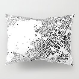 Montreal building city map Pillow Sham