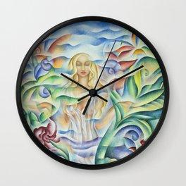 Flower Goddess Wall Clock