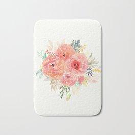 Pink Flower Bouquet Bath Mat