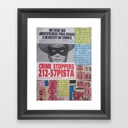 Crime Stoppers Framed Art Print
