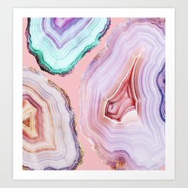 Mineral Agates #Glam collection Art Print