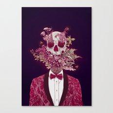 Skull Blossom Canvas Print