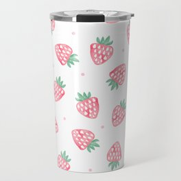 Strawberries Travel Mug
