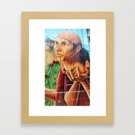 San Francisco Street Mural Framed Art Print