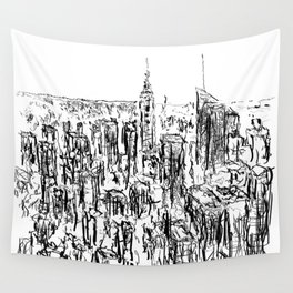 New York scribble style!! Wall Tapestry