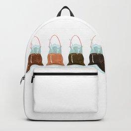 takeaway drinks, white Backpack