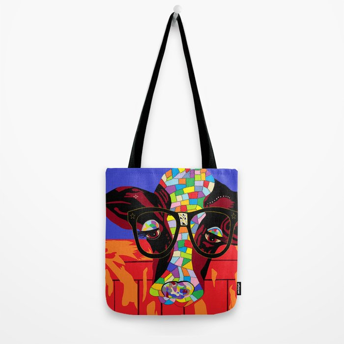 Spectacled Cow Tote Bag
