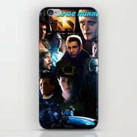 blade runner iPhone & iPod Skins featuring Blade Runner by Saint Genesis