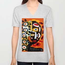African Woman is dreaming in the sunrise Unisex V-Neck