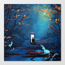 Tardis Lost In The Forest Canvas Print