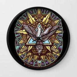 Trinity Merkabah Spirit Dove Mandala Wall Clock