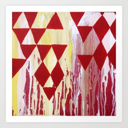 Tapestry - Abstract Geometric painting by Hannah Morris Art Print