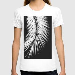 One Large Palm Leaf Black and White #decor #society6 #buyart T-shirt