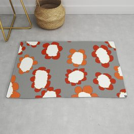 Daisies on Putty pattern Rug