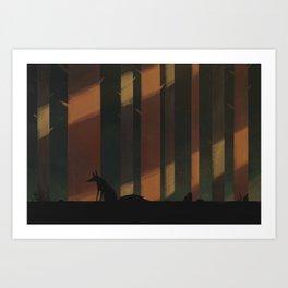 Light forest Art Print