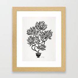 Bonsai Fruit Tree – Black Palette Framed Art Print