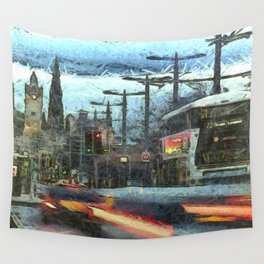 Edinburgh Night Bus Wall Tapestry