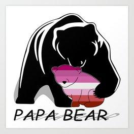 Papa Bear Lesbian Art Print