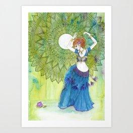 Belly Dancer Goddess Art Print