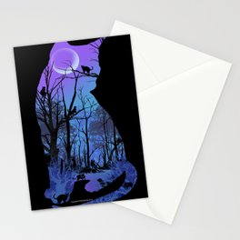 CAT MOON Stationery Cards