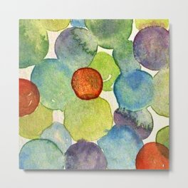 Watercolor - POLKA DOT RUSH HOUR Metal Print