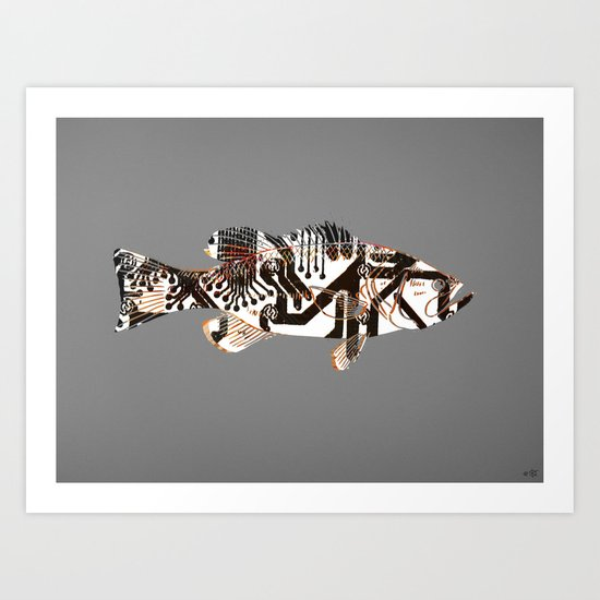 Digital Fish 2 Art Print