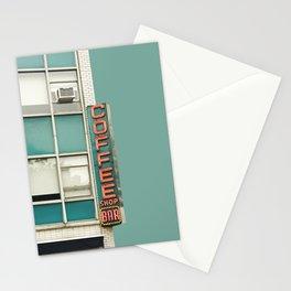 New York Coffee Shop on Aqua Stationery Cards