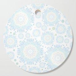 light blue mandalas pattern Cutting Board